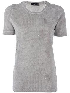 футболка с мелкими заклепками Dsquared2