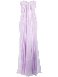 вечернее платье с драпировкой Alexander McQueen