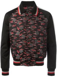 куртка-бомбер с вышивкой цапель Lanvin