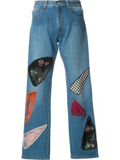 лоскутные джинсы Christopher Kane