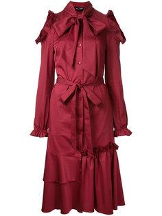 расклешенное платье с вырезными деталями на плечах Anna October