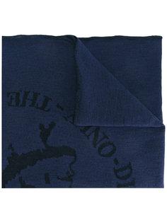 шарф с принтом-интарсией Diesel