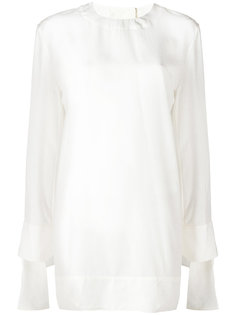 платье-рубашка с завязками на манжетах Marni