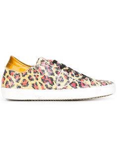 кроссовки с леопардовым узором и пайетками Philippe Model