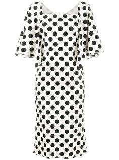 платье длины миди с узором в горох Dolce & Gabbana