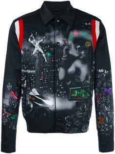 куртка бомбер с принтом Lanvin