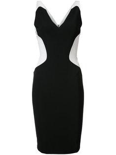 платье с контрастным вырезом в форме сердца Mugler