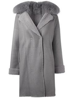 пальто с меховым воротником Guy Laroche Vintage