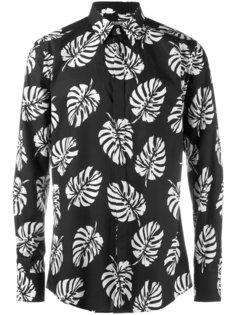 рубашка с принтом пальмовых веток Dolce & Gabbana