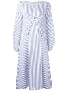полосатое платье миди JW Anderson