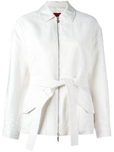 куртка-пуховик с поясом Moncler Gamme Rouge