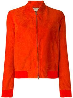 кожаная куртка-бомбер  Herno