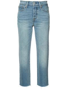 укороченные джинсы прямого кроя Levis