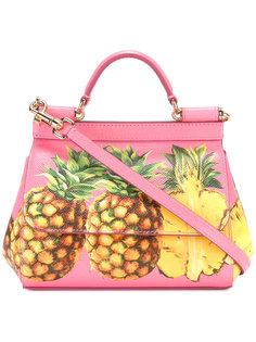 сумка-сэтчел с принтом ананасов Dolce & Gabbana