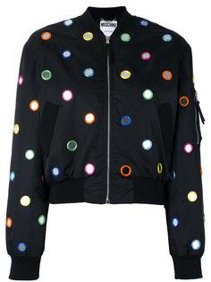 декорированная куртка бомбер Moschino