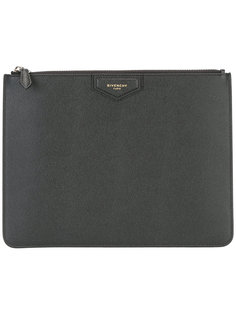 клатч с логотипом на молнии Givenchy