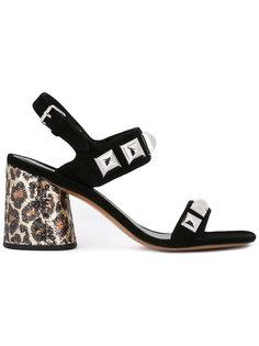 босоножки с леопардовым принтом на каблуке Marc Jacobs
