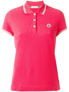 рубашка-поло с контрастной отделкой Moncler