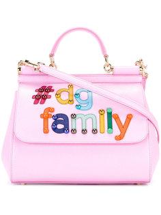 сумка-тоут с аппликацией DG family Dolce & Gabbana