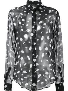 полупрозрачная блузка с узором в горох Saint Laurent