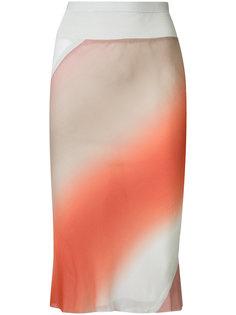 юбка с градиентным эффектом Rick Owens