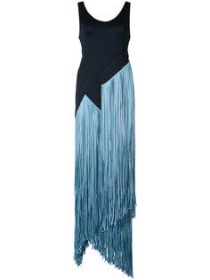 длинное платье с бахромой Galvan