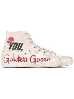 кеды на шнуровке с принтом логотипа Golden Goose Deluxe Brand