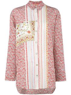 шелковая рубашка с узором Nº21