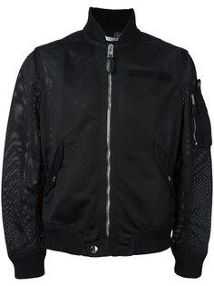 куртка с вставкой из сетки Givenchy