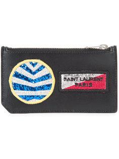 кошелек с нашивками Fragments  Saint Laurent