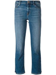 укороченные джинсы с линялым эффектом J Brand