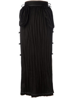 длинная декорированная юбка Loewe