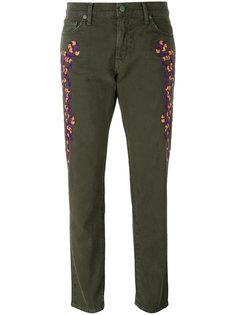 джинсы кроя слим с вышивкой  Sandrine Rose