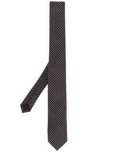 жаккардовый галстук в горох Saint Laurent