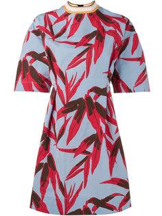 платье с лиственным принтом Marni