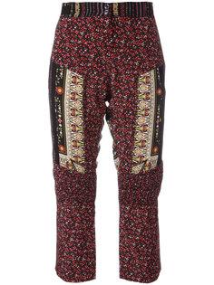 укороченные брюки лоскутного кроя Nº21