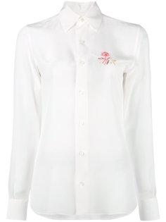 рубашка с вышитыми цветами Loewe