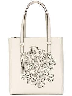 сумка-тоут с вырезными деталями Salvatore Ferragamo