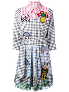 клетчатое платье с нашивками Peter Pilotto