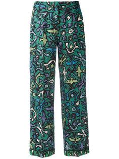 расклешенные брюки с абстрактным принтом Valentino