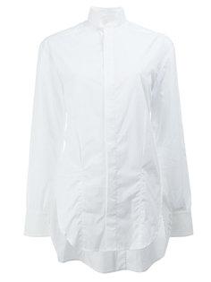 удлиненная рубашка с воротником-стойкой Wales Bonner