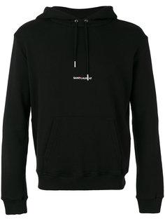 толстовка с логотипом и капюшоном Saint Laurent
