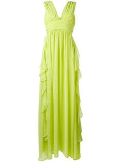 шифоновое платье с оборкой  MSGM