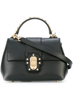 сумка-тоут с заклепками на ручке Dolce & Gabbana