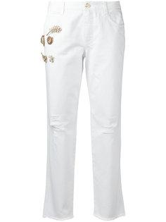 джинсы с аппликацией Ermanno Scervino