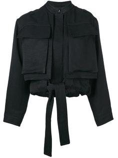 укороченная куртка с накладными карманами Tom Ford