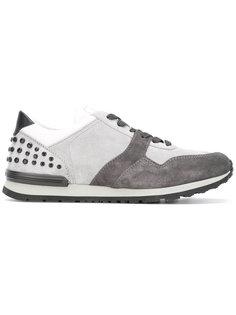 кроссовки на шнуровке с заклепками  Tods Tod'S