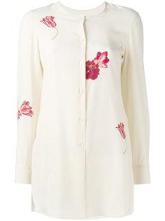 рубашка с цветочным принтом  Salvatore Ferragamo