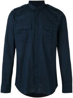 рубашка в стиле милитари Balmain