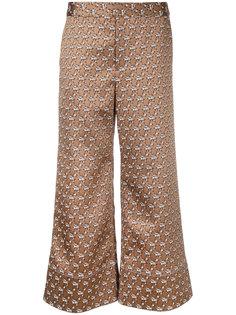 жаккардовые брюки с цветочным узором Irene